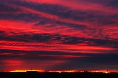 темный заход солнца Стоковое фото RF