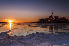Темный заход солнца Торонто Стоковые Фотографии RF