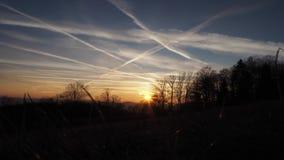 Темный заход солнца Timelapse сток-видео