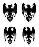 Темный злий heraldic орел Стоковые Изображения