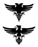Темный злий heraldic орел Стоковое Изображение