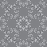 Темный - картина серого вектора безшовная с винтажным орнаментом Стоковое Изображение RF