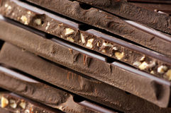 Темный конец-вверх шоколада Стоковые Фото