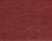 Темный - красная кожаная текстура Стоковые Фотографии RF