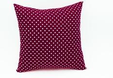 Темный - красная подушка для украшает Стоковые Фото