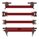 темный - красные футуристические знамена Стоковое фото RF