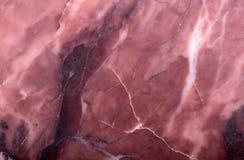 Темный - красный макрос минерала доломита Стоковые Изображения