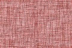 Темный - красный цвет покрасил безшовную linen предпосылку текстуры Стоковое Фото