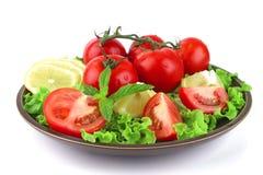 темный овощ смешивания тарелки Стоковая Фотография
