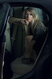 Темный портрет шикарной девушки стоковое фото rf