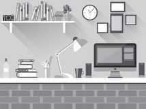 Темный плоский стол иллюстрация вектора