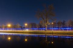 Темный свет сини канала Стоковое фото RF
