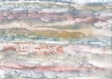 Темный - серая абстрактная картина акварели Стоковая Фотография