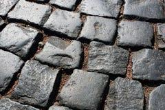 Темный - серые pavers Стоковые Фото