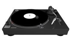 темный серый изолированный turntable Стоковая Фотография RF