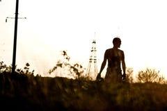 Темный силуэт ` s человека Стоковое фото RF