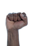 темный снятый кожу с кулачок Стоковая Фотография