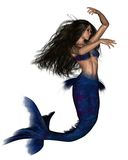 темный с волосами mermaid 3 Стоковая Фотография