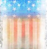 Темный флаг США Grunge Стоковая Фотография RF