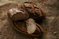 Темный хлеб с пшеницей стоковая фотография rf