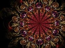 Темный цветок фрактали, цифровое художественное произведение Стоковые Изображения RF
