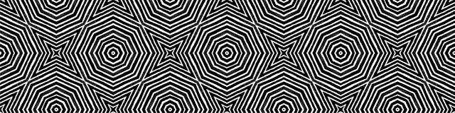 Темный черно-белый безшовный перечень границы Geome иллюстрация вектора