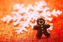 Темный человек пряника шоколада Стоковое Изображение RF
