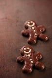 Темный человек пряника шоколада Стоковые Изображения