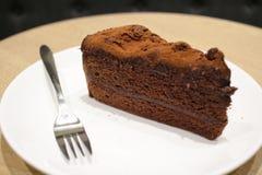 Темный шоколадный торт Стоковые Фотографии RF