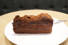 Темный шоколадный торт Стоковое Изображение RF