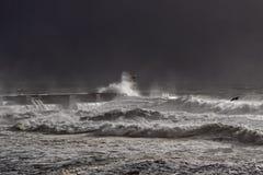 Темный шторм моря Стоковое Изображение RF