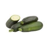 Темный ый-зелен цукини, изолированный на белизне Стоковые Изображения RF