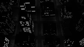 Темный flyby города акции видеоматериалы