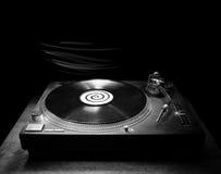 темный turntable dj Стоковые Изображения RF