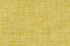 Темным покрашенная желтым цветом безшовная linen предпосылка текстуры Стоковые Изображения RF