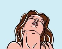 Темн-с волосами девушка в шипучк-искусстве бесплатная иллюстрация