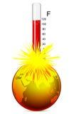 температура земли Стоковая Фотография RF