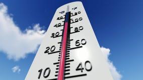 Температура на термометре видеоматериал