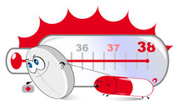 Температура обслуживания пилюлек Стоковые Фотографии RF