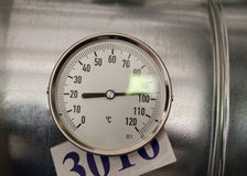 Температура термометра Стоковые Фото