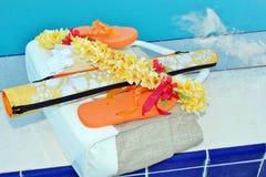 Темповые сальто сальто и аксессуары бассейна Стоковое Изображение RF