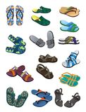 Темповые сальто сальто людей и сандалии Стоковые Фотографии RF