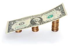 темпы роста девизов в долларах Стоковое фото RF