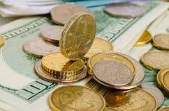 темпы роста девизов в долларах принципиальной схемы 3d понижаясь Стоковое Фото