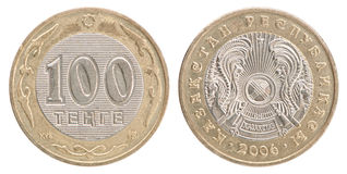 Тенге монетки казаха Стоковая Фотография