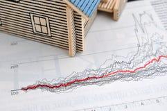 тенденция дома диаграммы стоковые изображения rf