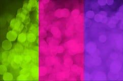 Тенденция 2019 цветов Трио яркой цвета неон розовой пластмассы, зеленый цвет ufo, пурпур протона, тонизированное фото абстрактное стоковое фото rf