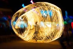 Тенеграмма выставки огня Стоковые Фото