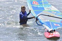 ТЕНЕРИФЕ 11-ОЕ АВГУСТА: PWA занимаясь серфингом, 11-ое августа 2017 Тенерифе Стоковые Фото