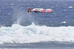 ТЕНЕРИФЕ 11-ОЕ АВГУСТА: PWA занимаясь серфингом, 11-ое августа 2017 Тенерифе Стоковое фото RF